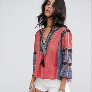 Free People But I Like It BOHO Crop Top